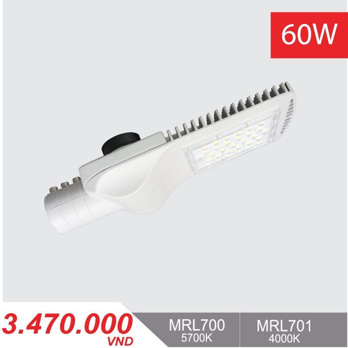 Đèn Đường LED 60W - MRL700/MRL701 - 3,470,000VNĐ