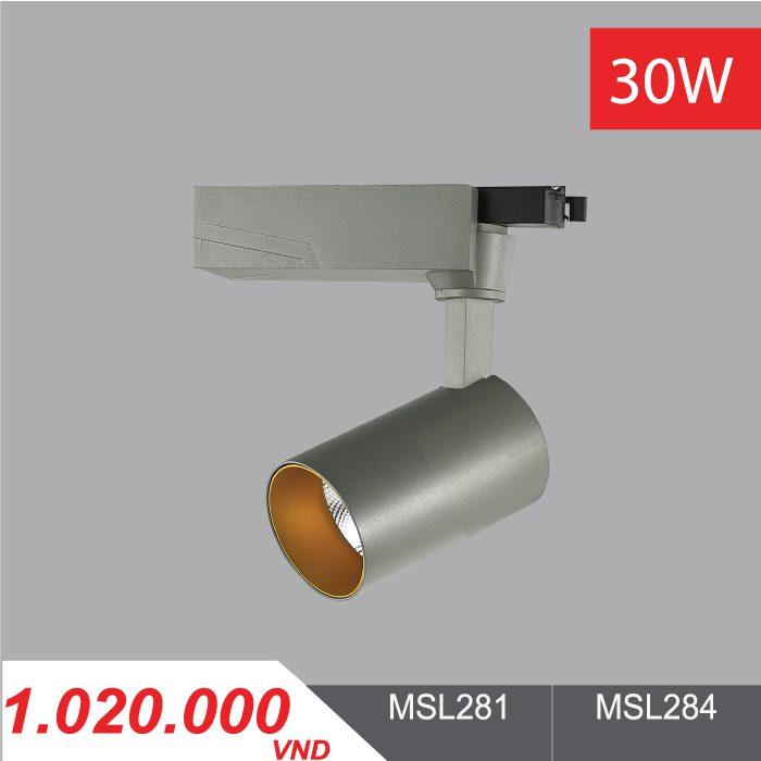 Đèn LED Chiếu Điểm 30W (Màu Xám) - MSL281/MSL284 - 1,020,000VNĐ