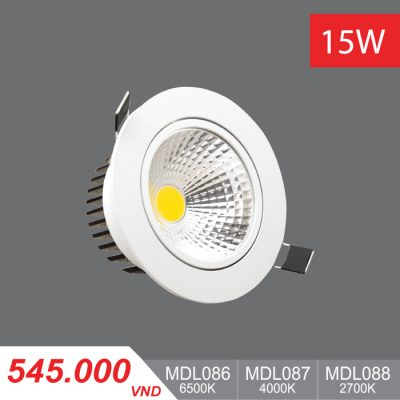 Đèn LED Downlight 15W - MDL086/MDL087/MDL088 - 545.000 VNĐ