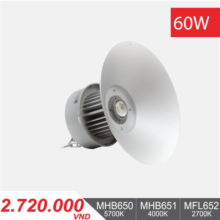 Đèn LED Nhà Xưởng 60W - MHB650/MHB651/MHB652 - 2.720.000VNĐ