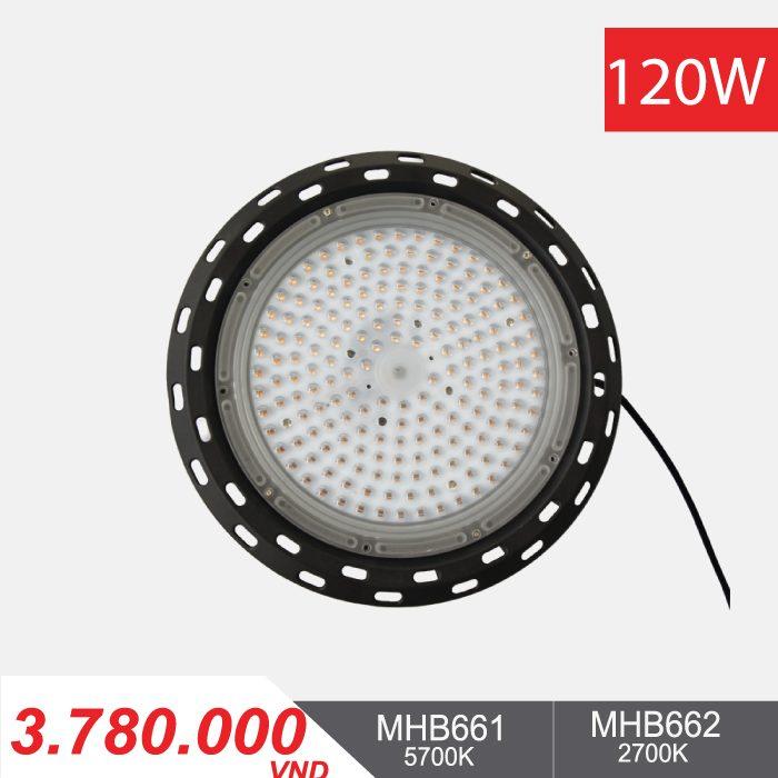 Đèn LED Nhà Xưởng - Highbay LED 120W - MHB661/MHB662 - 3.780.000VNĐ