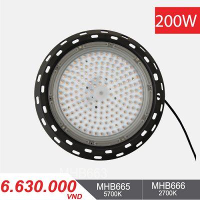 Đèn LED Nhà Xưởng - Highbay LED 200W - MHB665/MHB666 - 6.630.000VNĐ