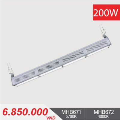 Đèn LED Nhà Xưởng - LINEAR HIGHBAY LED 200W - MHB671/MHB672