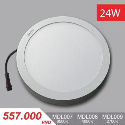 Đèn LED Ốp Trần Panel 24W - MPL007/MPL008/MPL009 - 557,000VNĐ