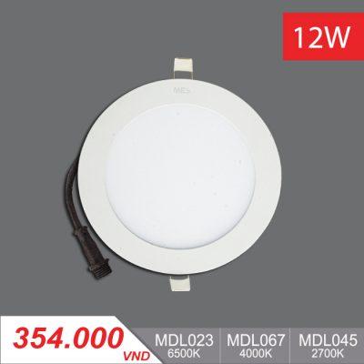 Đèn LED Panel Slim 12W Tròn - MPL023/MPL067/MPL045 - 354,000VNĐ