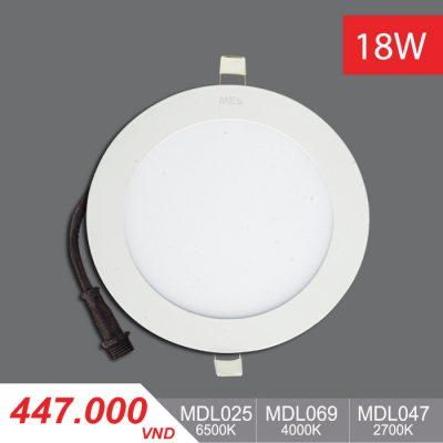 Đèn LED Panel Slim 18W Tròn - MPL025/MDPL069/MPL047 - 447,000VNĐ