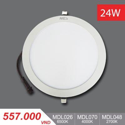 Đèn LED Panel Slim 24W Tròn - MPL026/MPL070/MPL048 - 557,000VNĐ