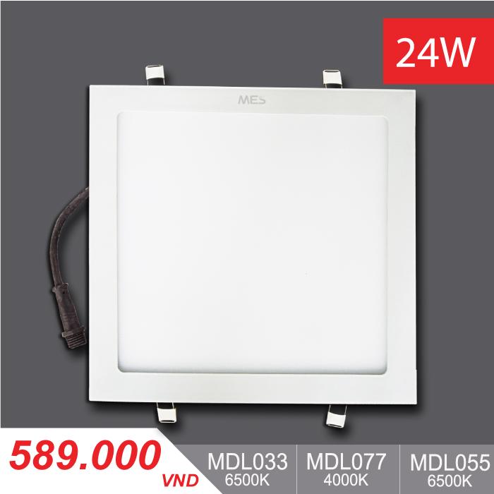 Đèn LED Panel Slim 24W Vuông MPL033/MPL077/MPL055 - 589,000VNĐ