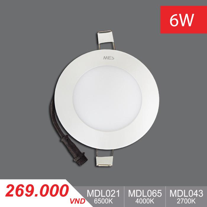 Đèn LED Panel Slim 6W Tròn - MPL021/MPL065/MPL043 - 269,000VNĐ