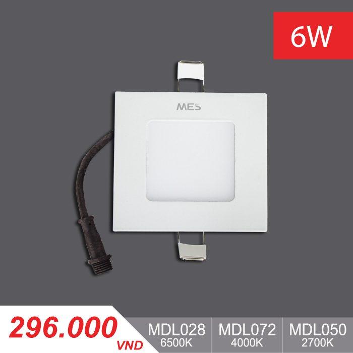 Đèn LED Panel Slim 6W Vuông - MPL028/MPL072/MPL050