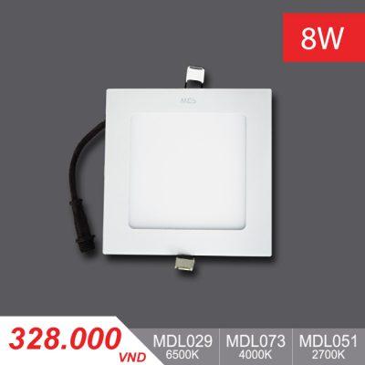 Đèn LED Panel Slim 8W Vuông - MPL029/MPL073/MPL051
