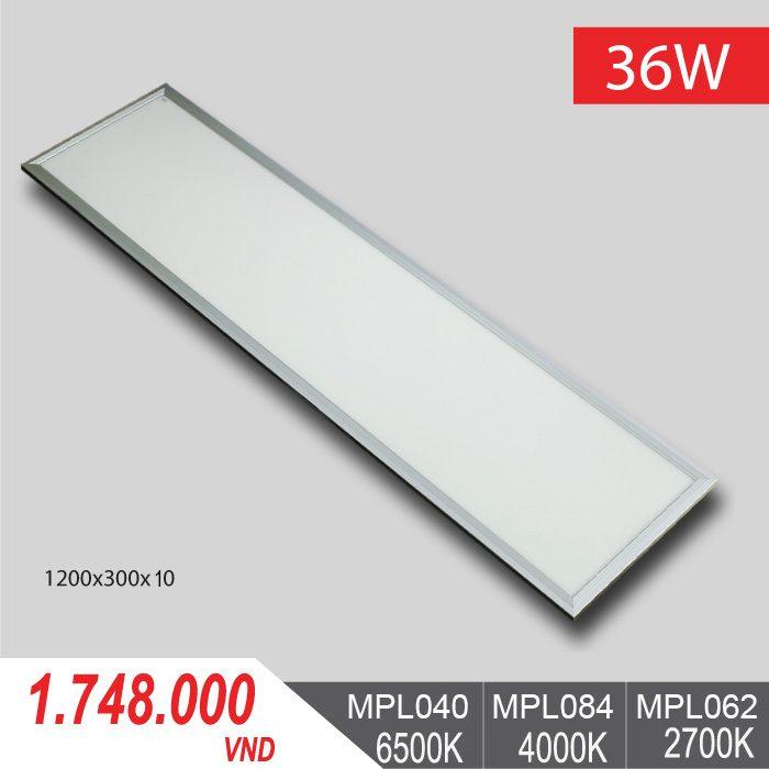 Đèn LED Panel Tấm 36W/1200x300x10 - MPL040/MPL084/MPL062