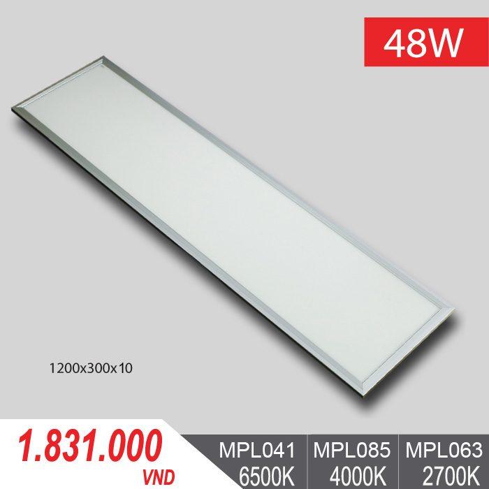 Đèn LED Panel Tấm 48W/1200x300x10 - MPL041/MPL085/MPL063