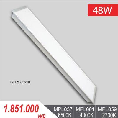 Đèn LED Panel Tấm 48W/1200x300x50 MPL037/MPL081/MPL059