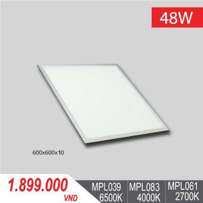 Đèn LED Panel Tấm 48W/600x600x10 - MPL039/MPL083/MPL061