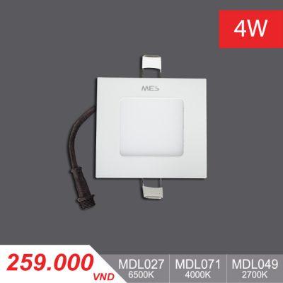 Đèn LED Slim Panel 4W Vuông - MPL027/MPL071/MPL049