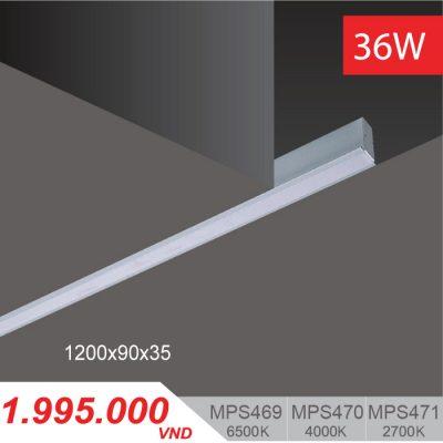 Đèn LED Thanh Âm 36W (1200x90x35) - MPS469/MPS470/MPS471