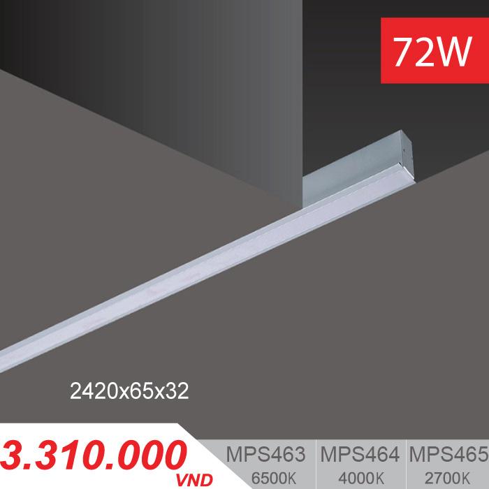 Đèn LED Thanh Âm 72W (2420x65x32) - MPS463/MPS464/MPS465