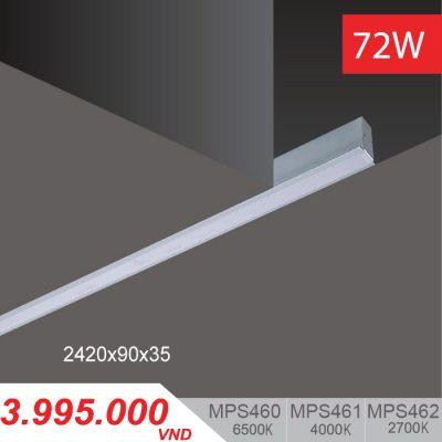 Đèn LED Thanh Âm 72W (2420x90x35) - MPS460/MPS461/MPS462