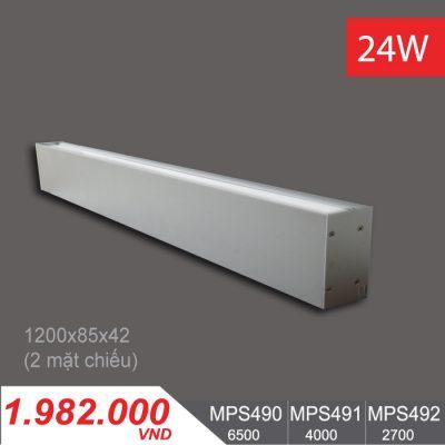 Đèn LED Thanh Ốp Vách 24W (1200x85x42) - MPS490/MPS491/MPS492