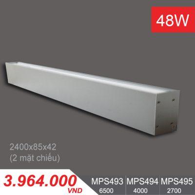 Đèn LED Thanh Ốp Vách 48W (2400x85x42) - MPS493/MPS494/MPS495
