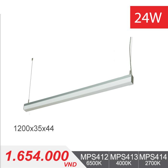Đèn LED Thanh Treo 24W (1200x35x44) - MPS412/MPS413/MPS414