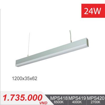 Đèn LED Thanh Treo 24W (1200x35x62) - MPS418/MPS419/MPS420