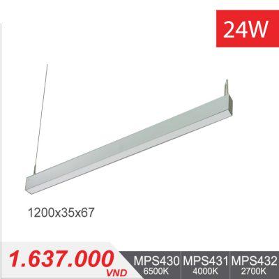 Đèn LED Thanh Treo 24W (1200x35x67) - MPS430/MPS431/MPS432