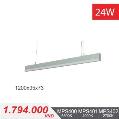 Đèn LED Thanh Treo 24W (1200x35x73) - MPS400/MPS401/MPS402