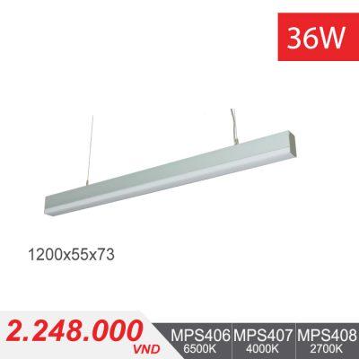 Đèn LED Thanh Treo 36W (1200x55x73) - MPS406/MPS407/MPS408