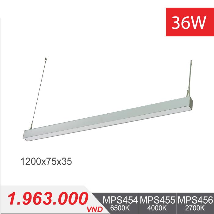Đèn LED Thanh Treo 36W (1200x75x35) - MPS454/MPS455/MPS456