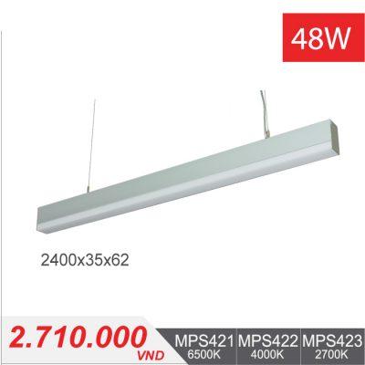 Đèn LED Thanh Treo 48W (2400x35x62) - MPS421/MPS422/MPS423