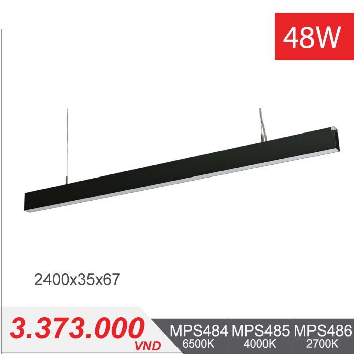 Đèn LED Thanh Treo 48W (2400x35x68) - MPS484/MPS485/MPS486