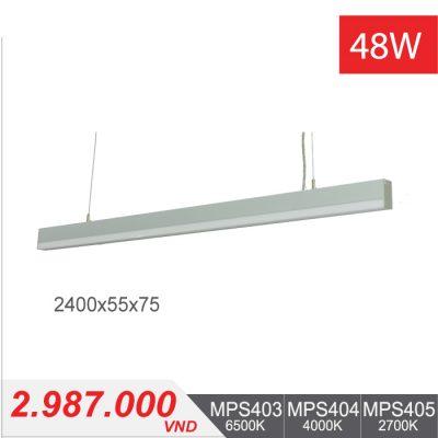 Đèn LED Thanh Treo 48W (2400x55x75) - MPS403/MPS404/MPS405