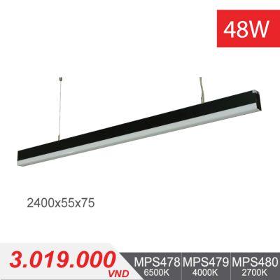 Đèn LED Thanh Treo 48W (2400x55x75) - MPS478/MPS479/MPS480