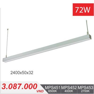 Đèn LED Thanh Treo 72W (2400x50x32) - MPS451/MPS452/MPS453