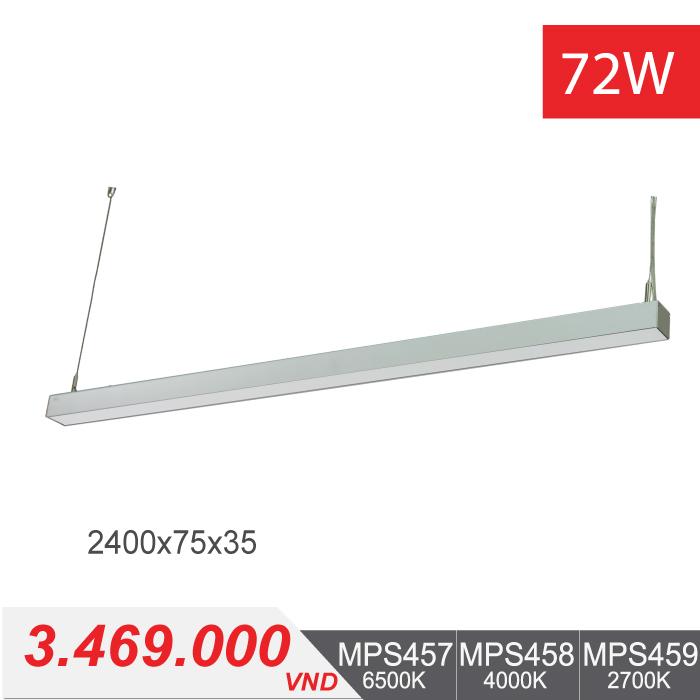 Đèn LED Thanh Treo 72W (2400x75x35) - MPS457/MPS458/MPS459