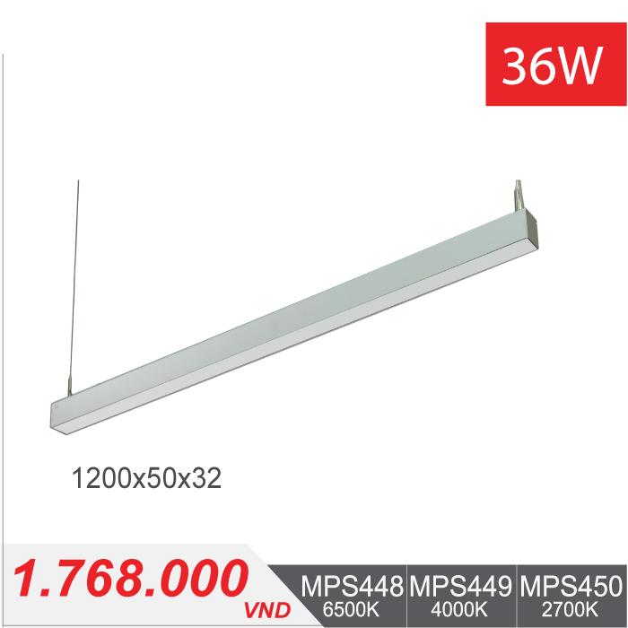Đèn LED Thanh Treo36W (1200x50x32) - MPS448/MPS449/MPS450