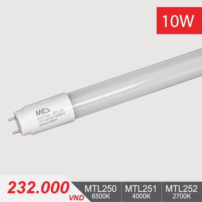 Đèn Tuýp LED T8 10W/0.6m - MTL250/MTL251/MTL252 - 232.000VNĐ