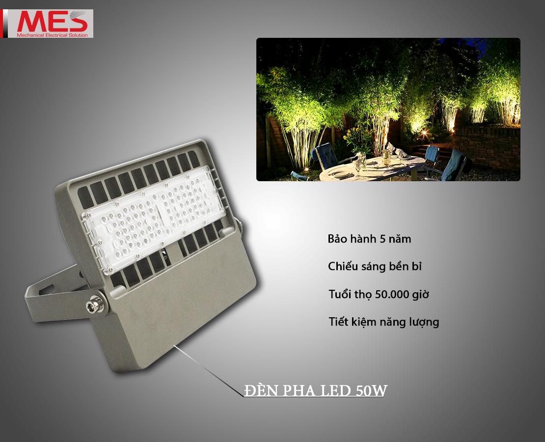 Đèn pha LED 50W ứng dụng đa dạng