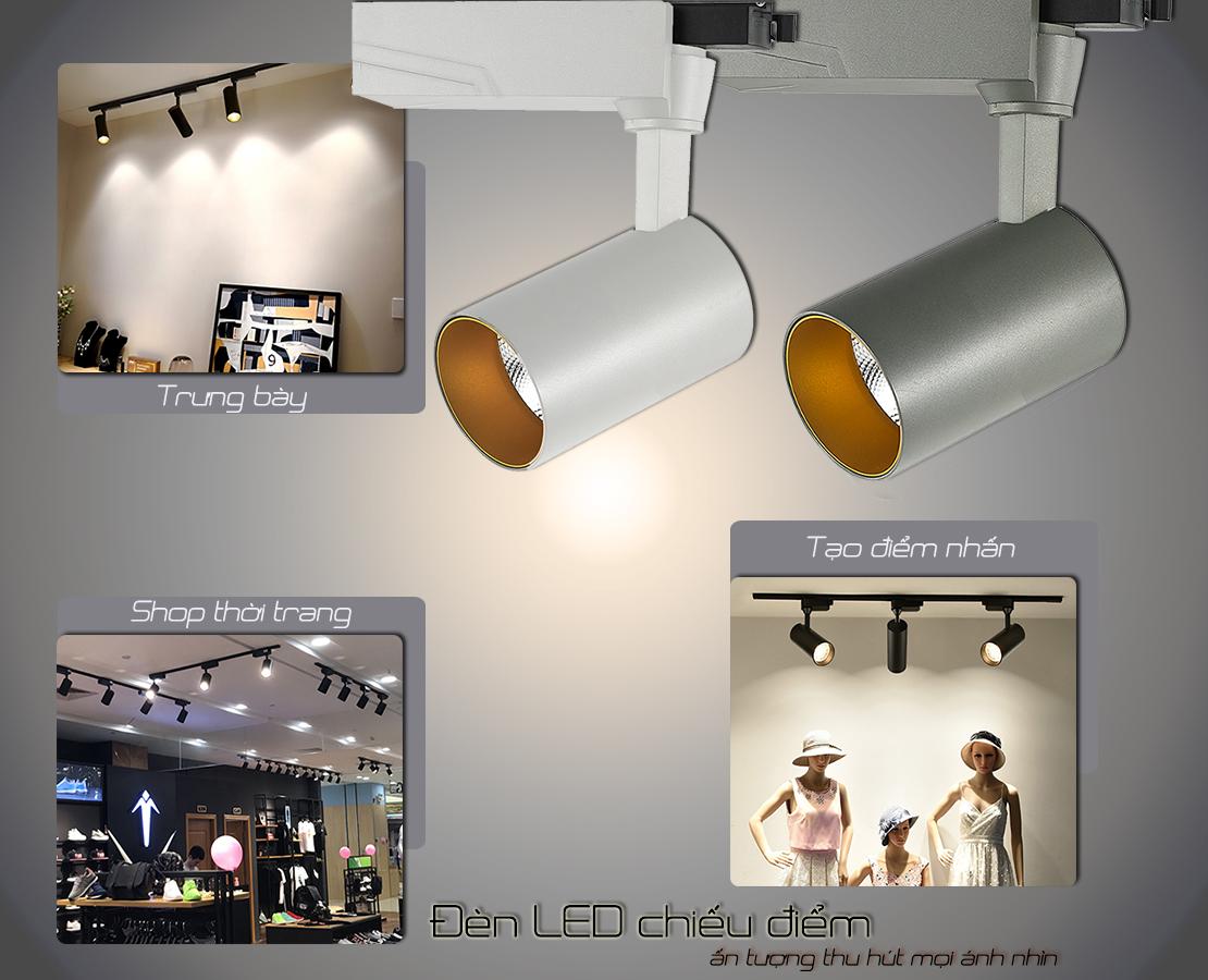 Ứng dụng đèn LED rọi ray