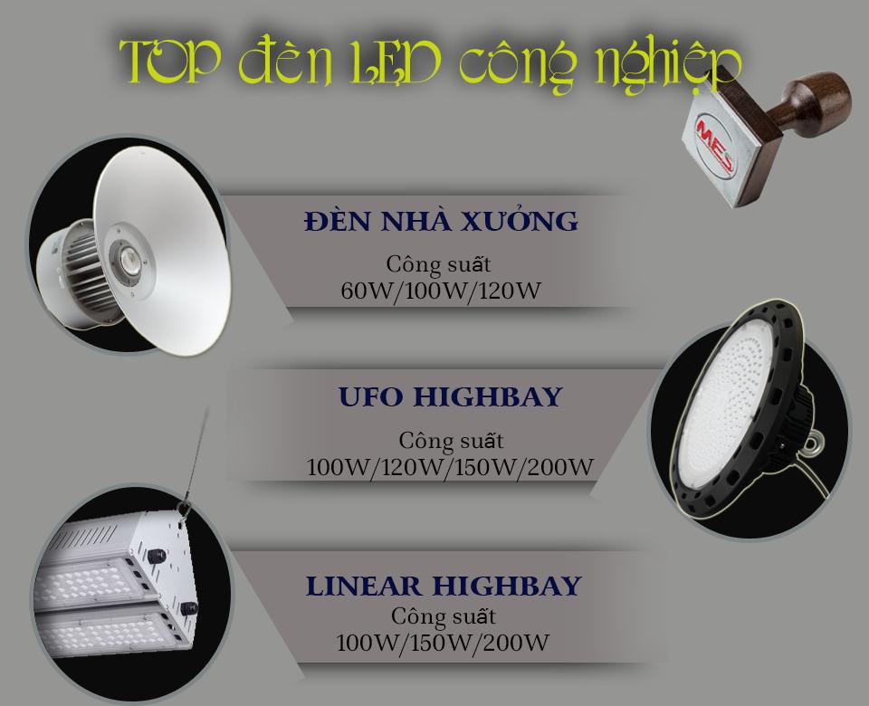 Các loại đèn LED nhà xưởng