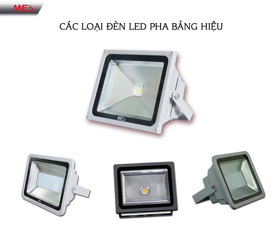 Các loại đèn pha LED chiếu sáng bảng hiệu