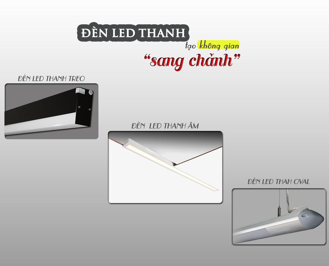 Đèn LED thanh được sử dụng đa dạng
